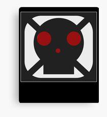 Black Skull Square Symbol Canvas Print