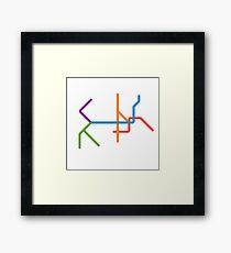 Mini Metros - Philadelphia, United States Framed Print