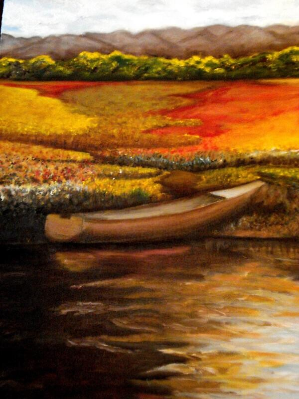 Boat on the bay by Erin Fay