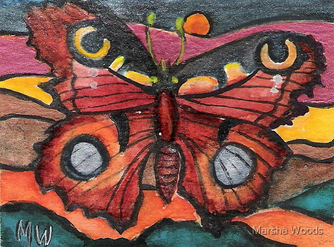Irridescent Butterfly by Marsha Woods