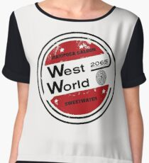 Westworld Retro Logo Round Women's Chiffon Top