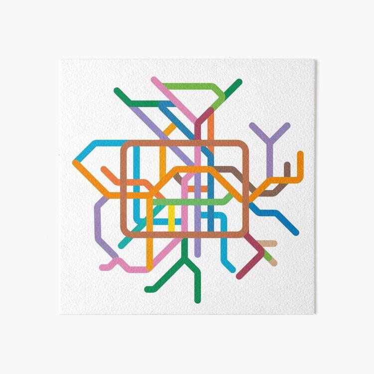 Mini Metros - Berlin, Allemagne Impression rigide