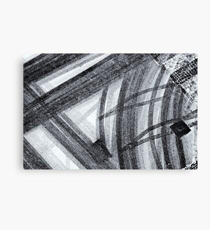 Snow abstract Canvas Print