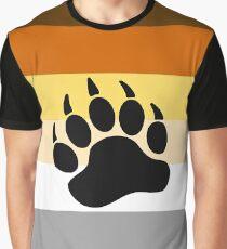 Bear Pride Flag Stripe Graphic T-Shirt