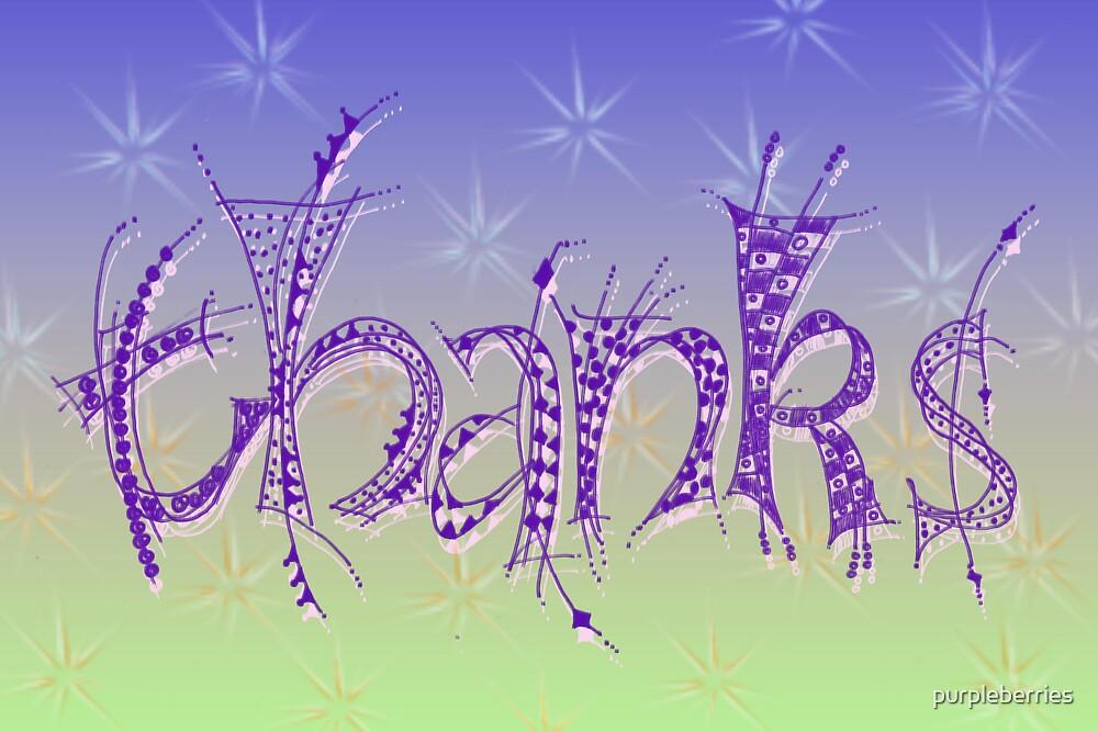 Thanks by purpleberries