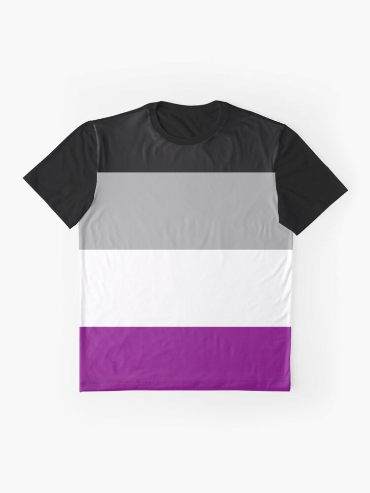 Alternate view of Asexual Pride Flag Stripe Graphic T-Shirt