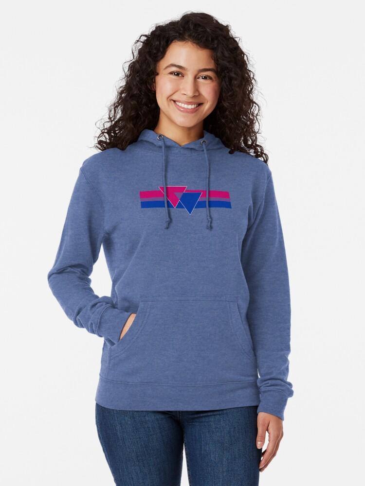 Alternate view of Bisexual Pride Symbol Lightweight Hoodie