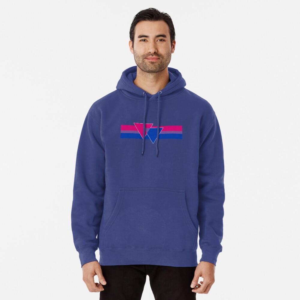 Bisexual Pride Symbol Pullover Hoodie