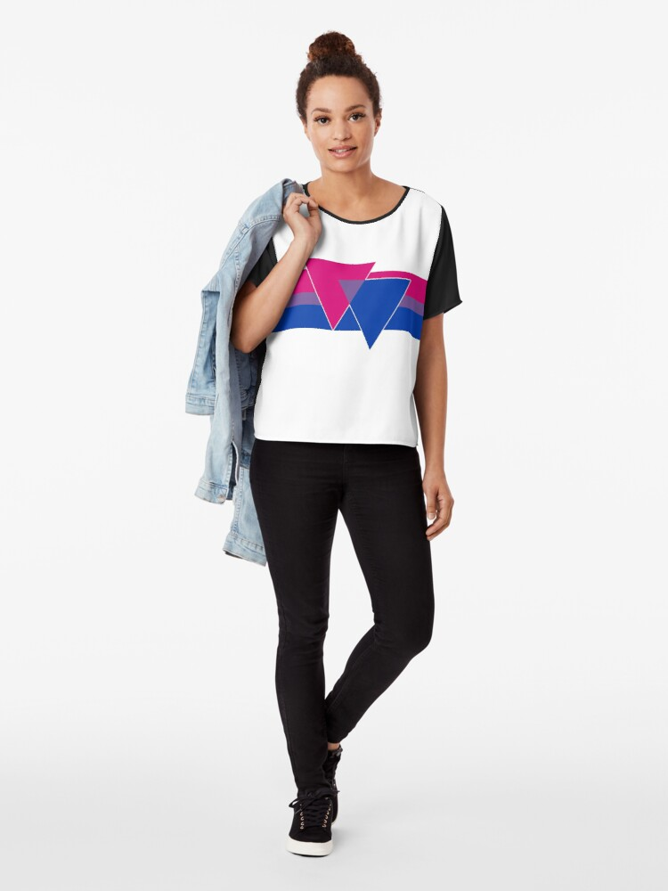 Alternate view of Bisexual Pride Symbol Chiffon Top