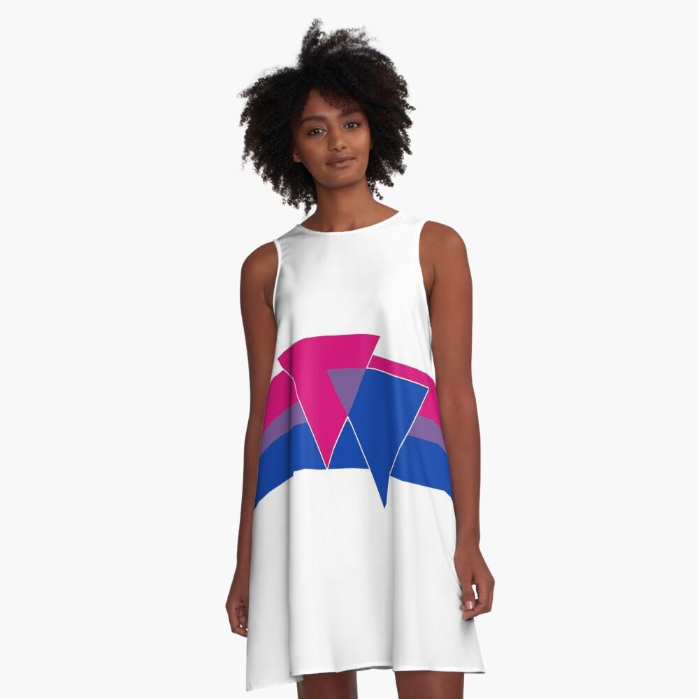 Bisexual Pride Symbol A-Line Dress