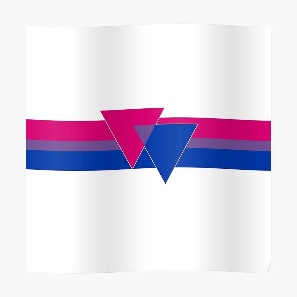 Bisexual Pride Symbol Poster