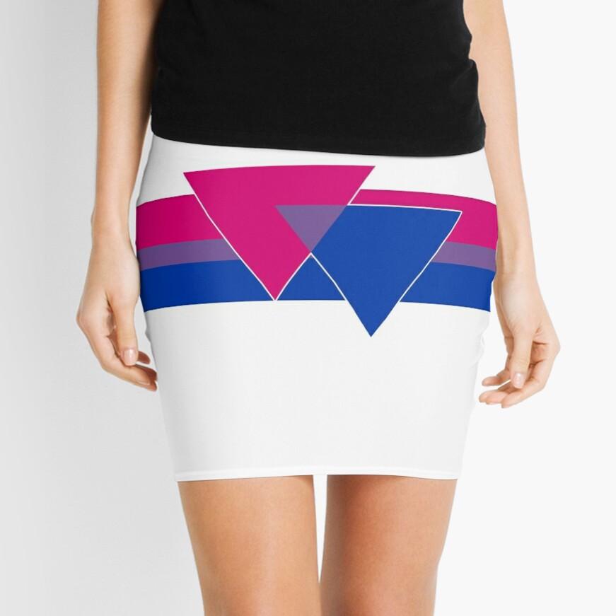 Bisexual Pride Symbol Mini Skirt