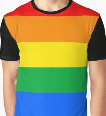 Gay Pride Flag Stripe Graphic T-Shirt