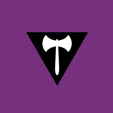 Lesbian Pride Flag Stripe by queeradise