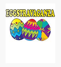 Easter Theme: Happy Easter Shirt For Kids Women Men  Eggs Bunny: Eggstaravaganza Photographic Print