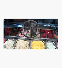 Colorful icecream flavours with dollar in glass Photographic Print