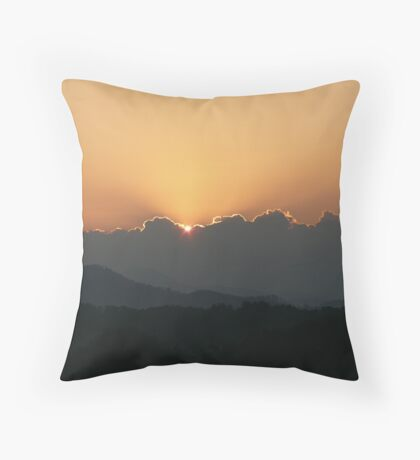 Mountain Magic, Sunrise Throw Pillow