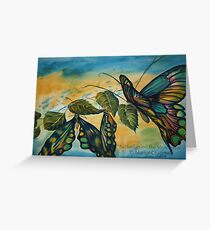 Watercolour: Butterflies on the Vine Greeting Card