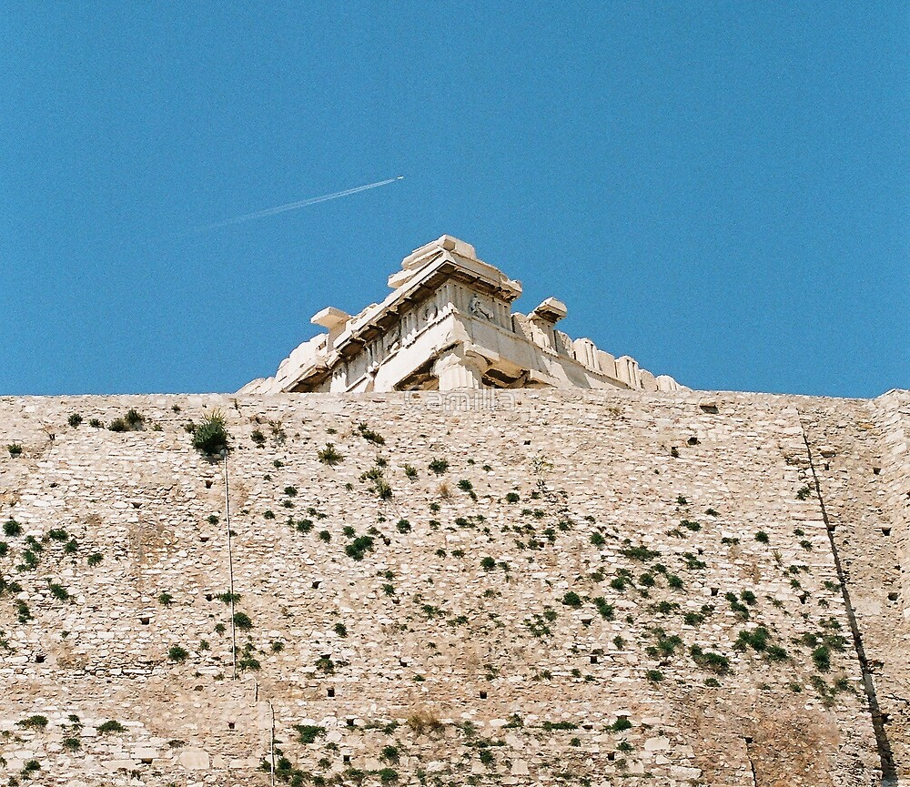 Flight Over Ancient Athens by Camilla