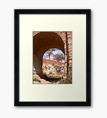 Through the djerriwarrh arch Framed Print