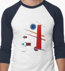 Mächtiges Rot. 1928 von Wassily Kandinsky Men's Baseball ¾ T-Shirt