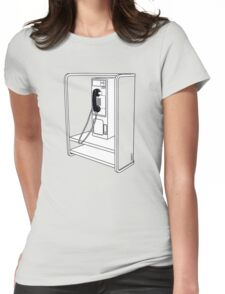 Old School Phone Booth Womens Fitted T-Shirt