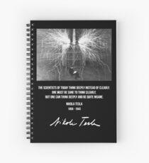 Nikola Tesla Spiral Notebook