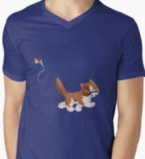Kite Kitten Men's V-Neck T-Shirt