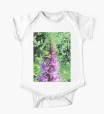 Macro Bumble Bee On Purple Flower Kids Clothes