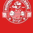 plumber strong mario gym tee by Carl Huber