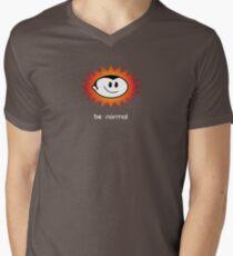 Be Normal: Normal Boy Superstar Mens V-Neck T-Shirt