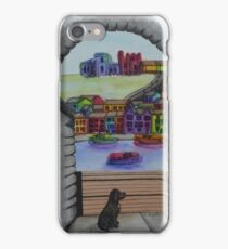 Looking Out at Whitby Harbour iPhone Case/Skin