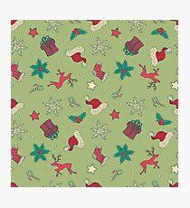 Christmas Seamless Pattern Photographic Print
