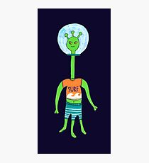 Green Alien  Photographic Print