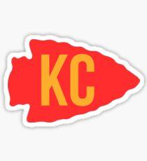 kc arrowhead Sticker