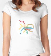 Mini Metro - Taipei, Taiwan Fitted Scoop T-Shirt
