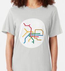 Mini Metro - Taipei, Taiwan Slim Fit T-Shirt