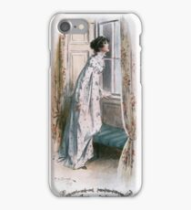 Charles Edmund Brock - Jane Austen Looking Out The Window iPhone Case/Skin