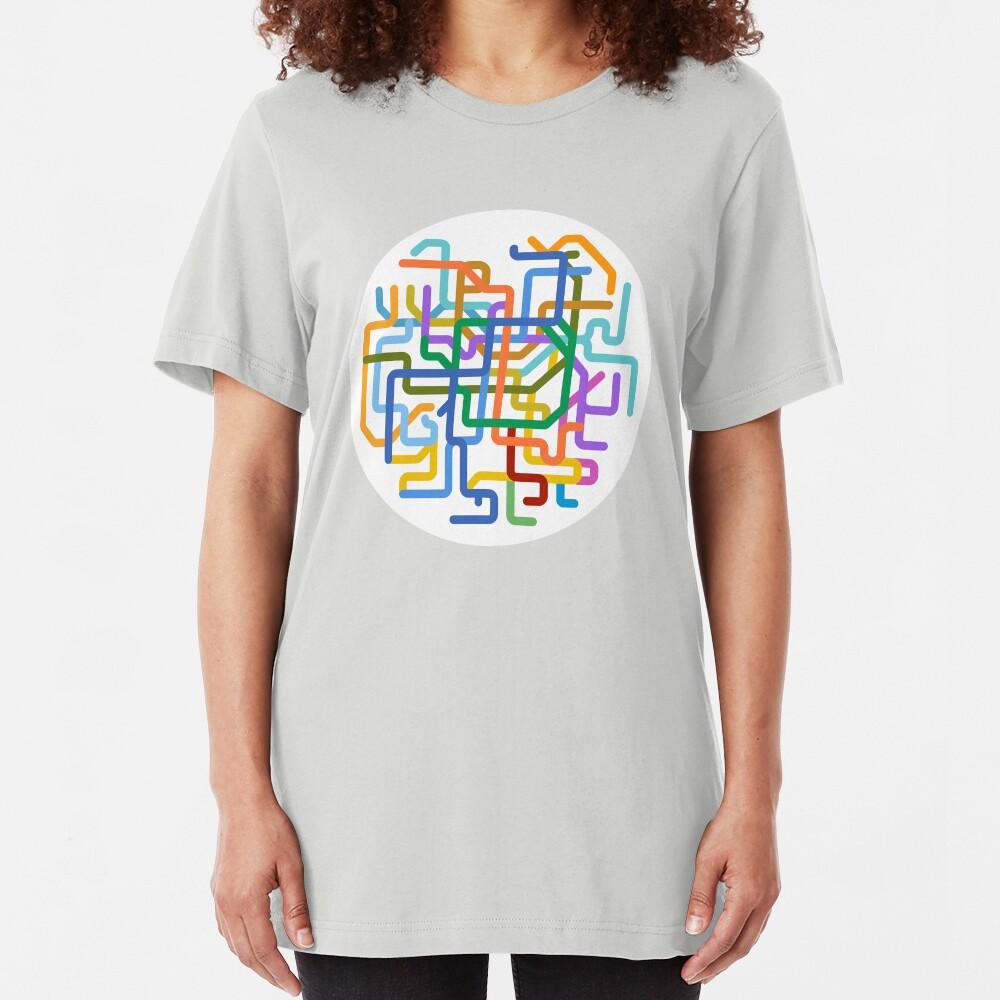 Mini Metros - Séoul, Corée du Sud T-shirt ajusté