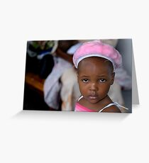 'Pink Hat,' Heal Africa Hospital, Democratic Republic of Congo Greeting Card