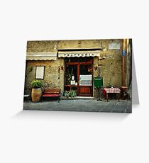 Italian restaurant Greeting Card