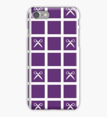Scissors Grid - Dark Purple iPhone Case/Skin