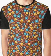 Vector vintage style flowers Graphic T-Shirt