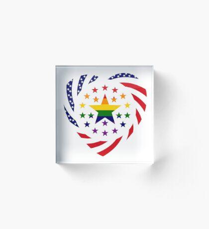 Love is Love American Flag 2.0 (Heart) Acrylic Block
