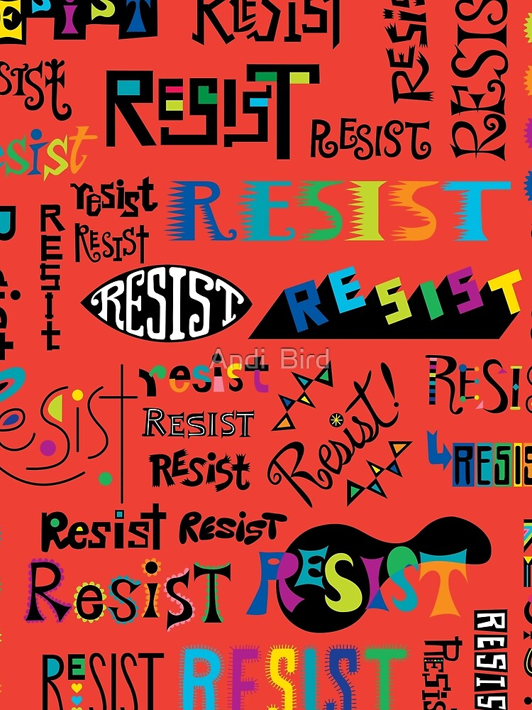 Resist Them scarlet red by andibird