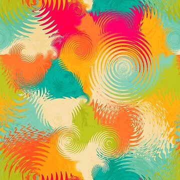 colorful dancing circles pattern by TimeForTShirt