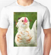 White Barbu d'Uccle bantam chicken Unisex T-Shirt