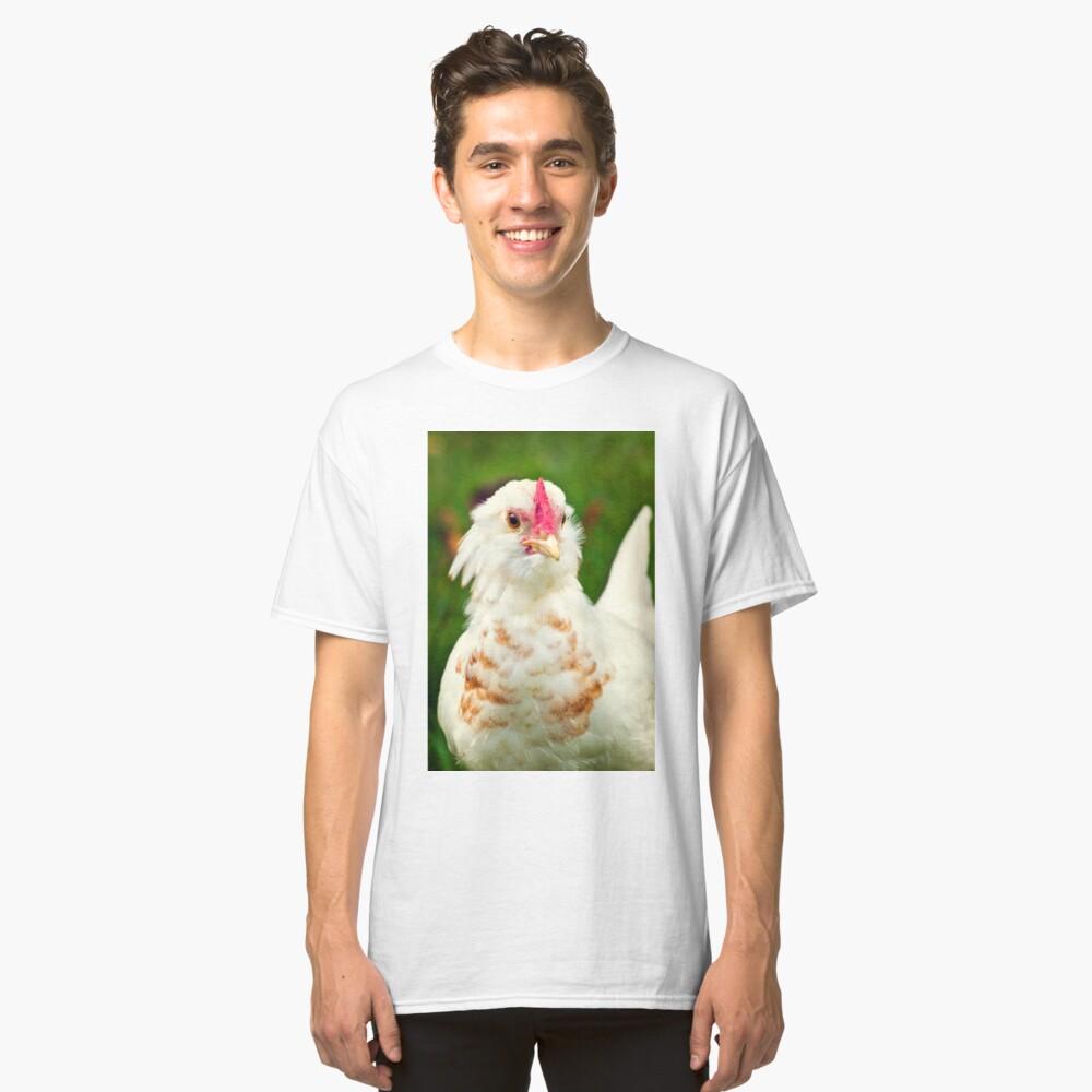 White Barbu d'Uccle bantam chicken Classic T-Shirt