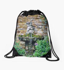 Garden Fountain Drawstring Bag