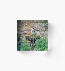 Garden Fountain Acrylic Block